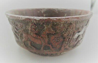 Superb Ancient Greek Terracotta Bowl With Scenes All Around 100Bc
