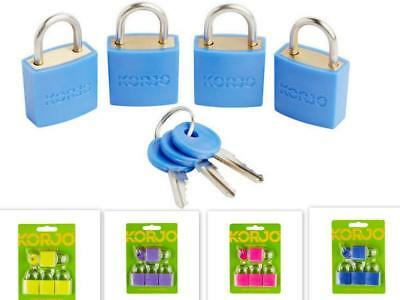 4X Pack Korjo Luggage Locks Travel Suitcase Bags Padlock Keyed Pad Lock(4pk)3key