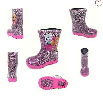 Official Girls Paw Patrol Rain Wellies Wellington Boots 5-10