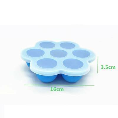 Storage Box Safety Silicone Baby Infant Flower Lattice Food Container