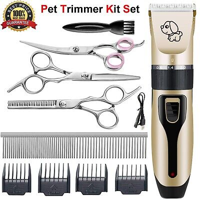 Electric Animal Pet Dog Cat Hair Clipper Trimmer Shaver Razor Grooming Quiet Kit