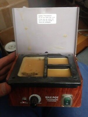 Dental Lab Electric Wax Waxer 3 Well Analog Melting Dipping Heater Pot Machine
