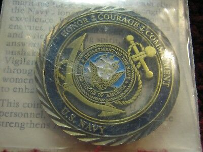 Challenge Coin U.S. Navy Core Values Honor*Courage*Commitment