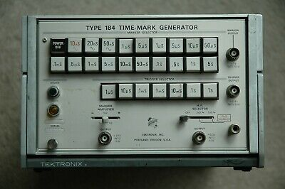 Tektronix Type 184 Time Mark Generator, Calibration, Works Great!