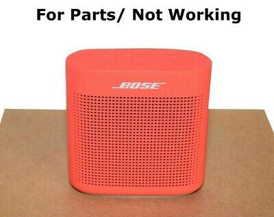 Bose SoundLink II Bluetooth Wireless Speaker Red/Gray For Parts/ Not Working