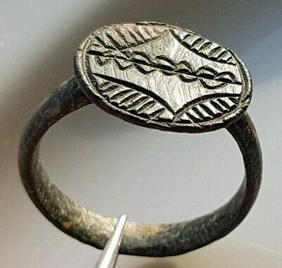 SNAKES ANCIENT ROMAN Bronze RING