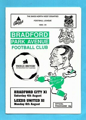 1990 - 1991 Friendly Bradford Park Avenue v Bradford City XI & Leeds United XI