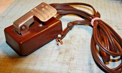 Vintage Singer Fashion Mate 237 Sewing Machine Control Pedal & Electrical Cords