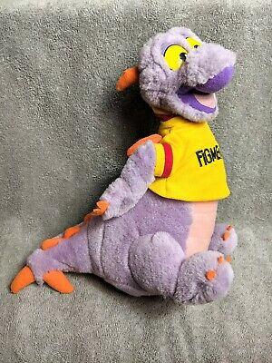 "Vintage FIGMENT Walt Disney World Epcot 10"" Stuffed Plush Toy Purple DRAGON"