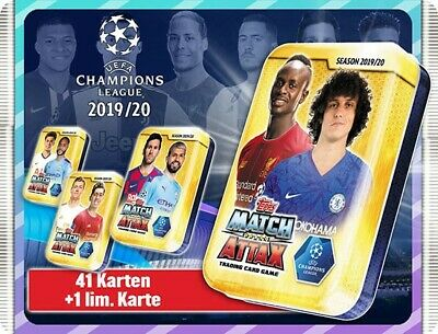 Topps Match Attax Champions League 2019/2020 3 x Mini Tin inkl.Limited Edition