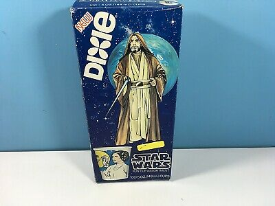 Vintage 1980 Star Wars Dixie Cups Unopened Box RARE Obi-Wan Old Ben Kenobi Box