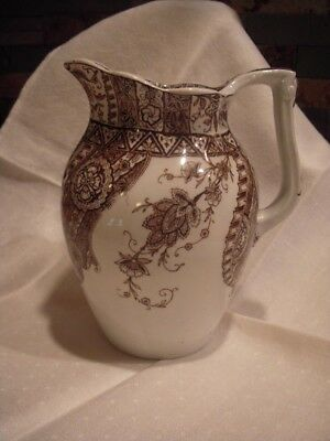 Rare Antique T. Furnival & Sons England Paisley 1850 - 1899 Pitcher / Jug / Ewer