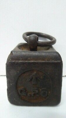 Antique Australian Post Office Scales 1Lb Weight Embossed
