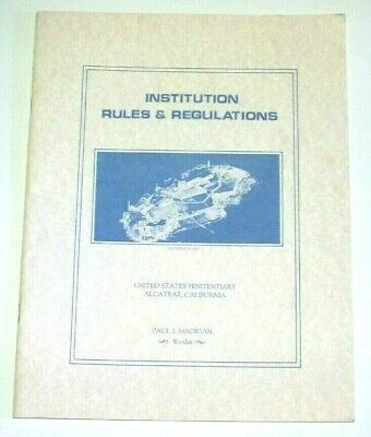 ALCATRAZ - Institution Rules & Regulations - 1956 - repro booklet