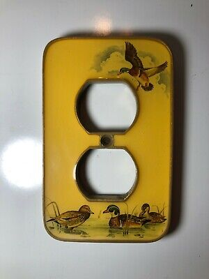 Vintage Cast Iron Duck-Themed Outlet Cover / Switch Plate - Great Condition