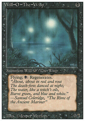 Will-o'-the-Wisp MTG Revised 3rd Edition M/NM (RG) 4RCards