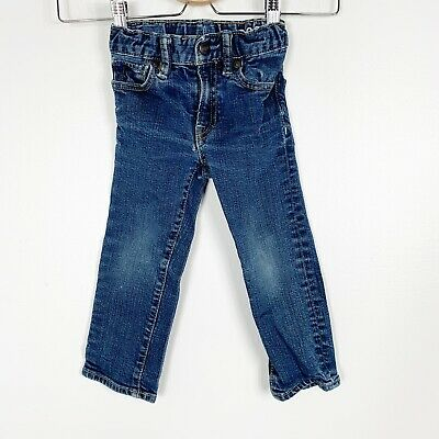 Baby Gap Toddler Boys Blue Soft Stretch Denim Jeans Slim Fit Size 2T