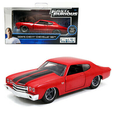 Jada Fast & Furious 1:32 Diecast Dom's Chevy Chevelle SS Car Red Model Collect