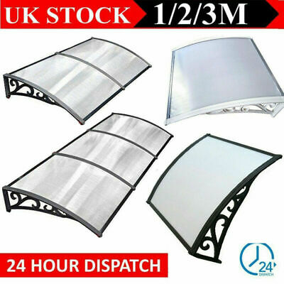 Black White Door Canopy Roof Cover Awning Shelter Window Patio Front Back Porch