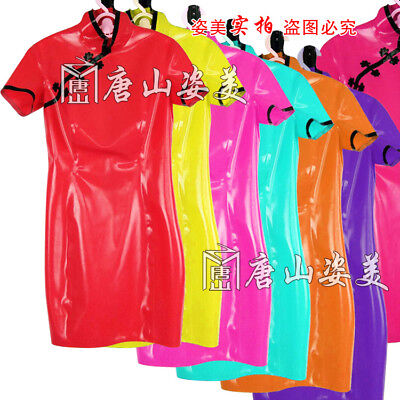 100% Latex Rubber Gummi 0.45mm Dress Skirt Catsuit Suit Cheongsam Fashion Party