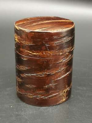 w2 Japanese Wooden Cherry Bark TEA CADDY Natsume Chaire Container Tea Ceremony