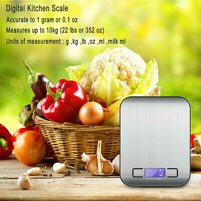 1g-10kg Digital Electronic Kitchen Household Weighing Food Cooking Scales V9T4G