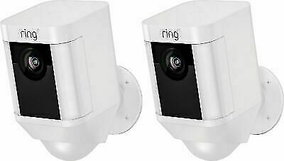 Ring Spotlight Cam 2 pack Battery outdoor security camera 2-Pack ( White )
