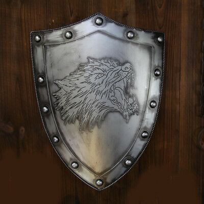 D35 Europe Retro Medieval Shield Antique Knight Armour Wall Home Decor Full Size