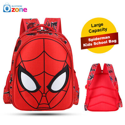 Kids School Bag Backpack Spiderman Red Two Size Large Capacity Children Gifts