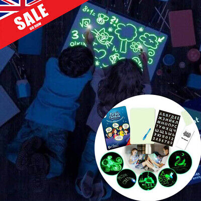 UK Draw With Lights Fun And Developing Toy Drawing Board Magic Draw Educational
