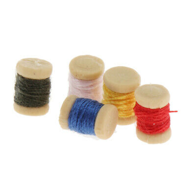 5Pc #IM65443 Dollhouse Miniatures 1:12 Scale Spools Of Thread