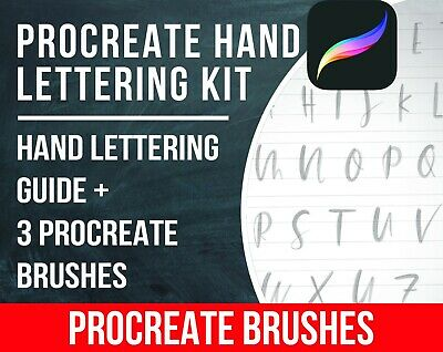 Procreate Hand Lettering Kit. Calligraphy Procreate Brushes. Digital Download!