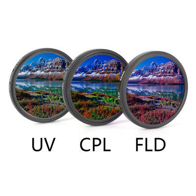 UV+CPL+FLD Lens Filter Set with Bag for Cannon Nikon Sony Pentax Camera Len 2VCG
