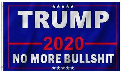 3X5 Ft President Donald Trump 2020 Flag No More Bullshit Outdoor MAGA Banner