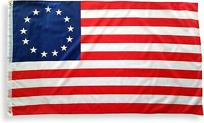 Betsy Ross US Flag 3x5 ft 13 Stars 1776 Colonial Historical American USA Banner