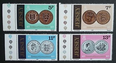 Jersey (1977) Coins / Centenary of Currency Reform / Coat of Arms - Mint (MNH)