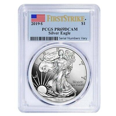 2019-S 1 oz Proof Silver American Eagle PCGS PF 69 DCAM First Strike