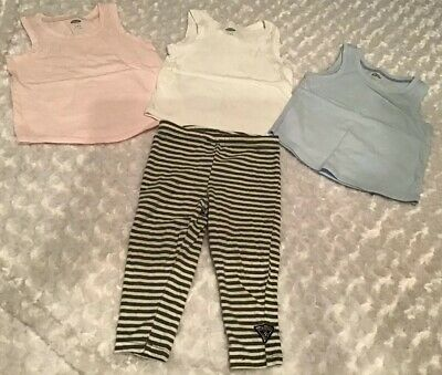 Old Navy/Baby Guess Baby Girl Outfit Set Size 12-18 Months In EUC (BIN AG)