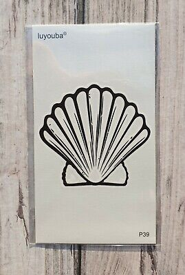 *UK SELLER* Small Shell TEMPORARY TATTOO Waterproof Body Art /-a650-/
