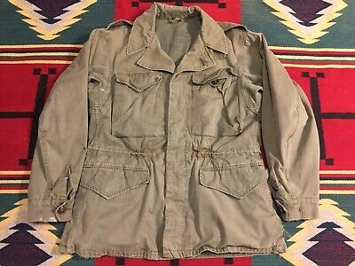 Vintage Vtg 1940s 40s WWII US Army Military M-1943 Field Jacket 34R