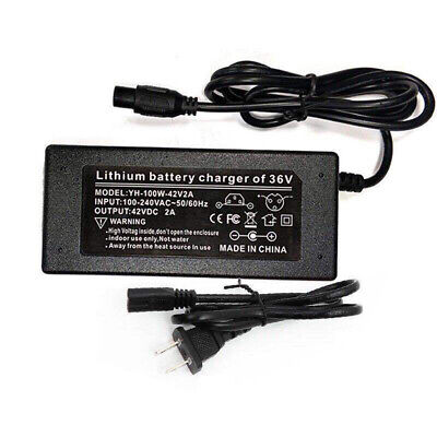 42V 2A Power Adapter Charger For 2 Wheel Self Balancing Scooter Hoverboard HOOT