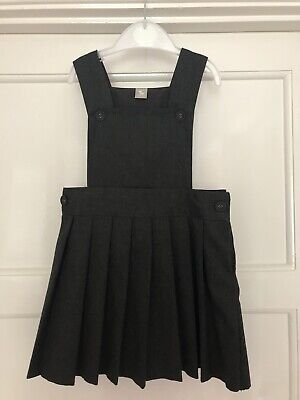 Grey School Pleated Pinafore Dress - Age 3 (98cm) - EXCELLENT CONDITION