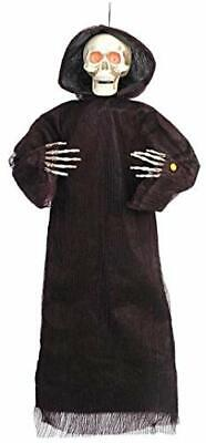 HomeAccents 4 ft Animated Hanging Reaper Halloween Decoration Prop - Light Up