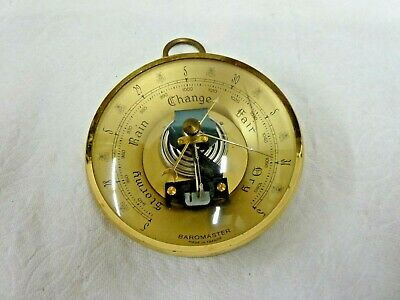 "Vintage 6 1/4"" French Barometer - Baromaster Made in France"