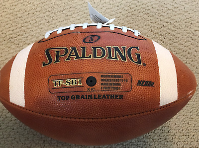 Spalding Football TF SB1 Spiral Balance Full Size Leather NFHS Approved BLOWOUT