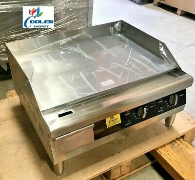 "NEW 24"" Electric Griddle Flat Grill Stove Countertop NSF ETL 208/240V Commercial"