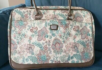 """Vintage American Tourister Tapestry Overnight Bag Floral Carry On 22""""x16""""x6"""""""