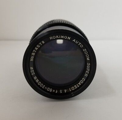 Rokinon 80-200mm f4.5 Auto Zoom Super Coated Lens 52Bmm Made in Japan