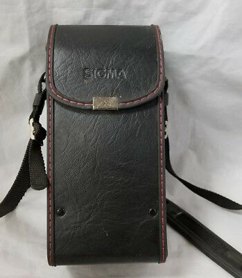 """Sigma NC-1A Camera Lens Carrying Case w Strap Japan 5.5X3"""" Photography Storage"""