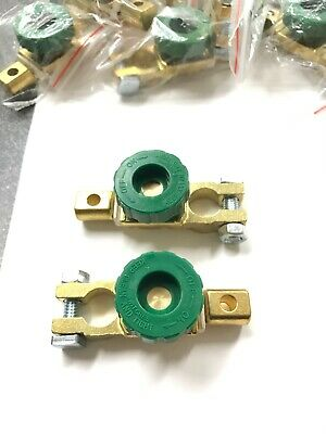 X2 Auto Battery Link Terminal Quick Cutoff Disconnect Master Kill Switch Brass